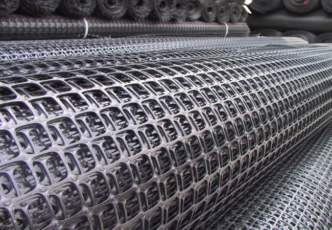 双向塑料土工格栅产品展示图